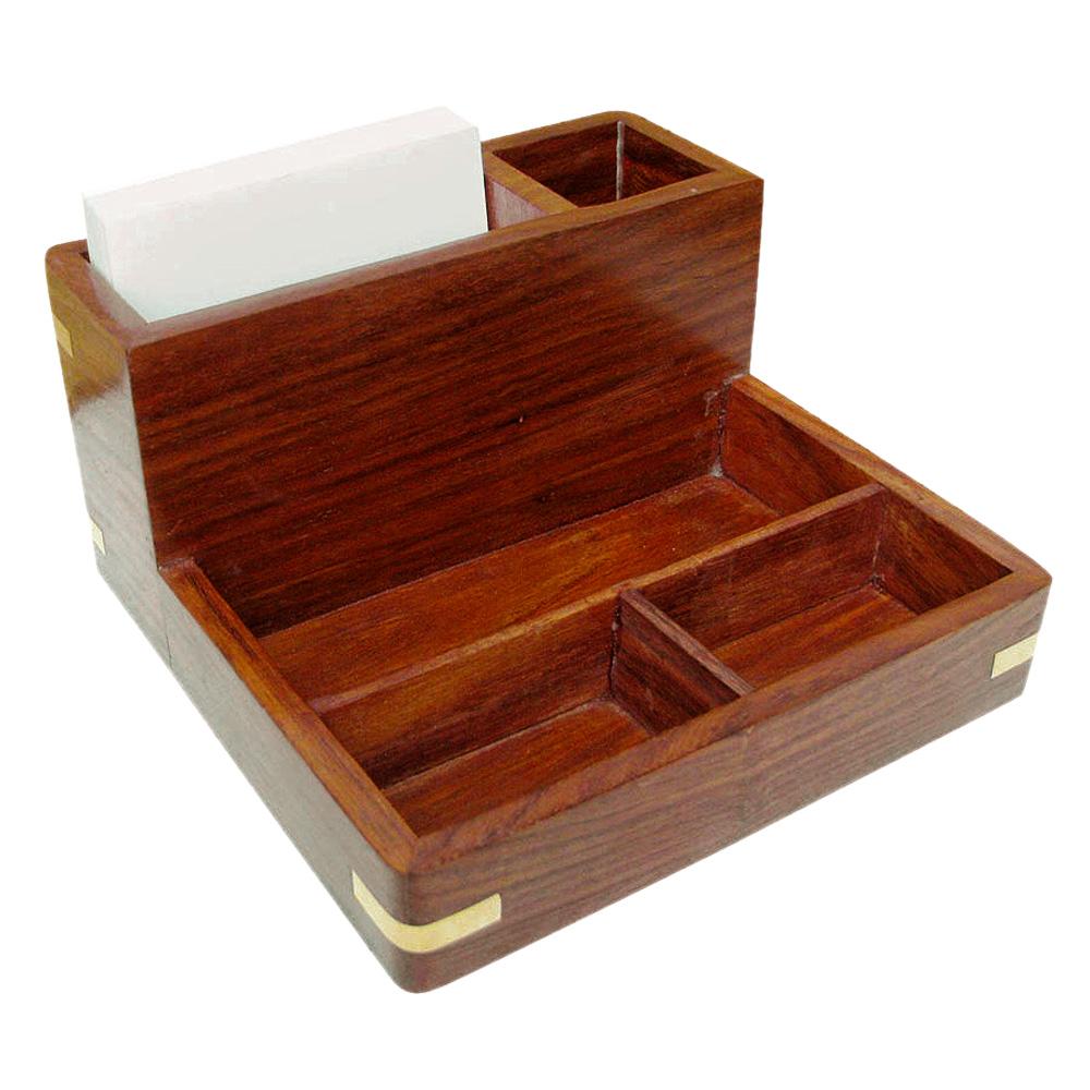 Maritime Zettel Stift und Utensilien Box - Teak & Messing - XXL - sc ...