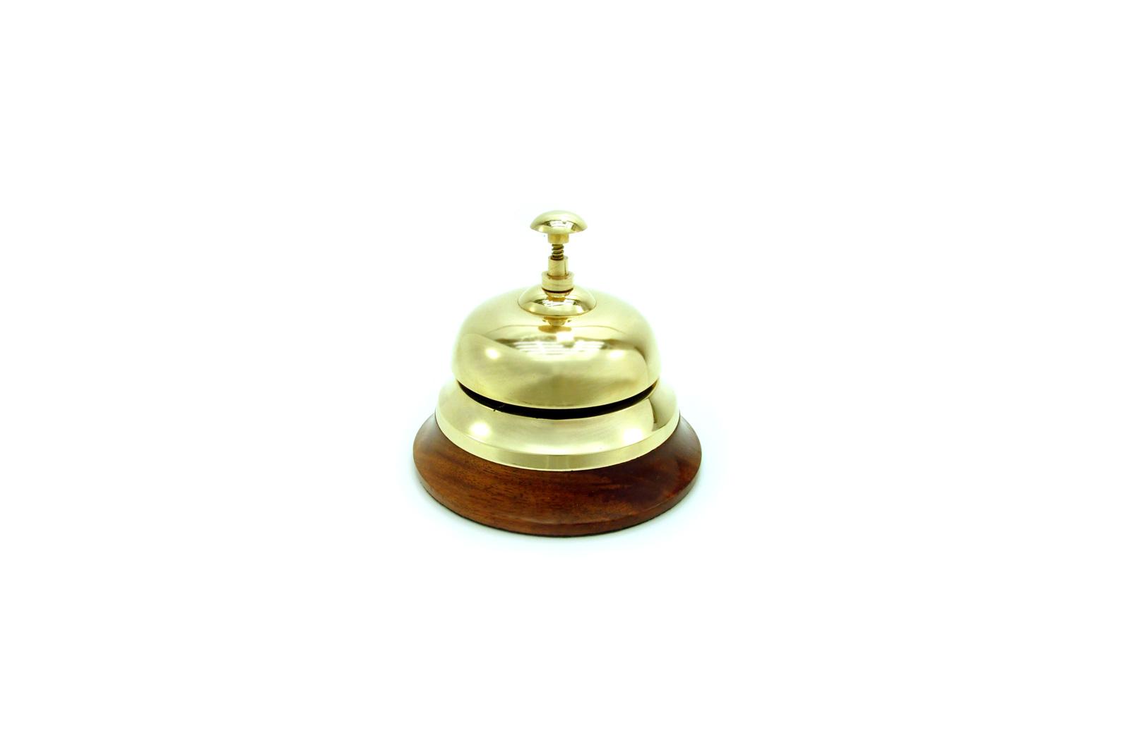 Klassische Vintage Hotelglocke Rezeptionsglocke Glocke  aus Messing