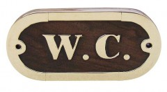 Türschild - W.C. - Holz - Messing