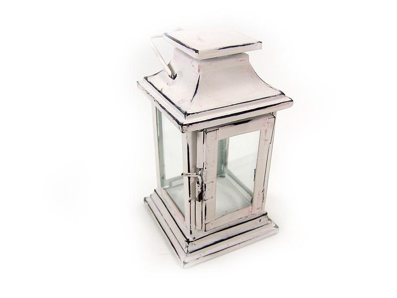 kleine laterne windlicht shabby chic metall i. Black Bedroom Furniture Sets. Home Design Ideas
