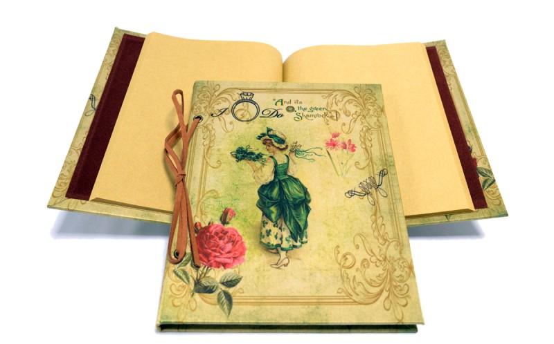 nostalgie tagebuch notizbuch shamrock xl geschenke max. Black Bedroom Furniture Sets. Home Design Ideas
