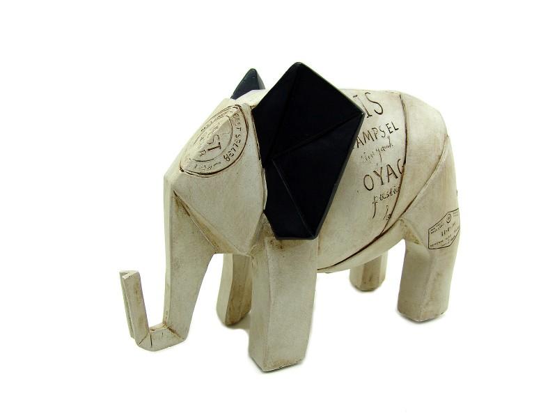 origami elefant skulptur altpapier look paris geschenke max. Black Bedroom Furniture Sets. Home Design Ideas