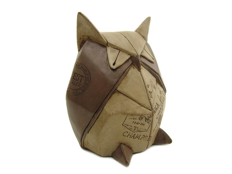 origami eule uhu skulptur altpapier look paris geschenke max. Black Bedroom Furniture Sets. Home Design Ideas