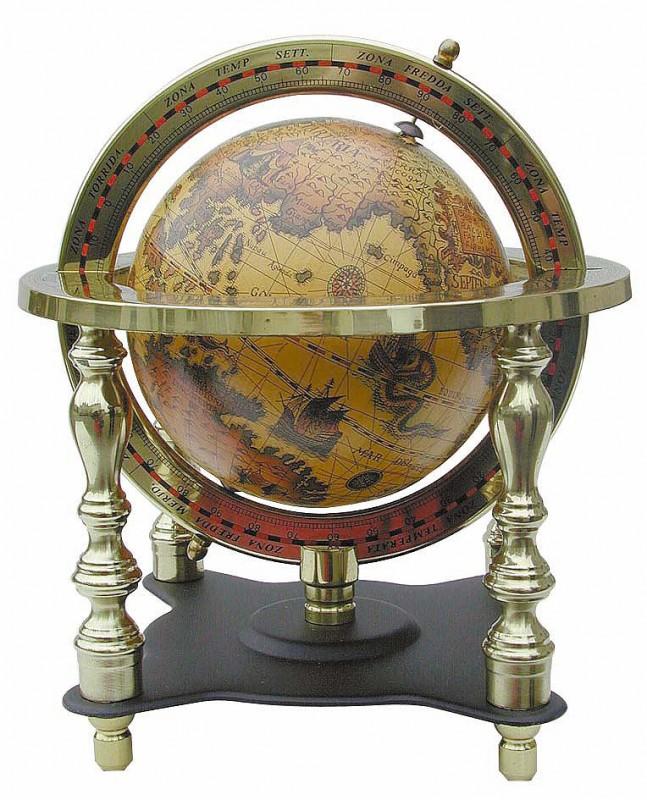 globus antik look alte welt messing s ulen globus sc 1150 ebay. Black Bedroom Furniture Sets. Home Design Ideas