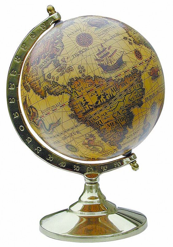 globus antik look xl alte welt messinggestell sc